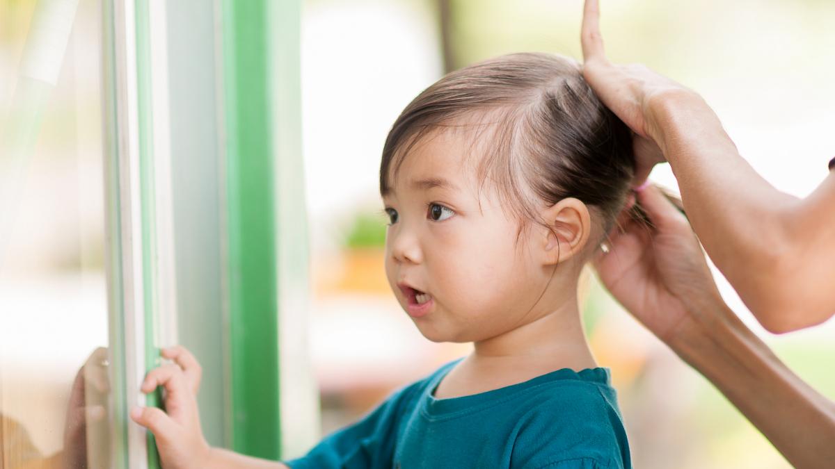 幼稚園 帽子 髪型