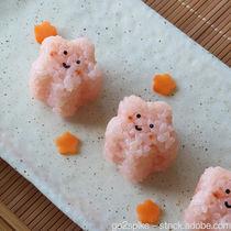 ひな祭りに味わう幼児食の簡単レシピ。ハムロールご飯やお花のおにぎりの作り方
