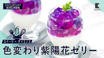 【スイーツ×サイエンス】青・紫・赤、色変わり紫陽花ゼリーを作ってみよう
