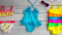女の子の水着のデザインについて。キッズ用水着のサイズや機能性とは