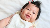 生後4カ月の赤ちゃんの服装や服のサイズについて。セパレートタイプや冬服など