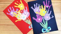 敬老の日に喜ばれる手作りプレゼント。写真や手形を使った手作りカードの作り方