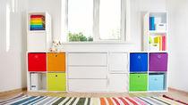 幼稚園グッズの収納方法。カラーボックスや収納ラックなどを活用したアイデア