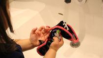 幼稚園で使うハンカチ選び。手作りハンカチの作り方やクリップを使ったハンカチ入れ