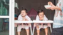 双子の離乳食の進め方。食器や椅子などの用意したいものやスムーズにあげるコツ