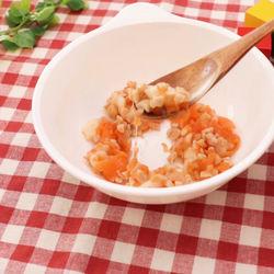 離乳食中期。ひきわり納豆を使った納豆ポテト