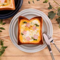 包丁や火を使わない!春を感じる菜の花食パンキッシュ