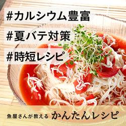 【魚屋さんが教える】時短レシピ!しらすとトマトの冷製和えそうめん