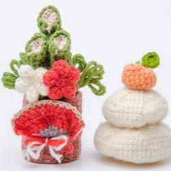 お正月飾りを子どもと簡単手作り。折り紙、画用紙、フェルトで作るポイントは