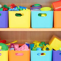 おもちゃの収納。カラーボックスや箱を使っておしゃれに手作りしよう