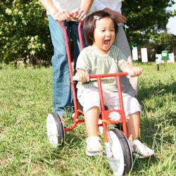 ベビーカー代わりになる三輪車。メリットやデメリットなど