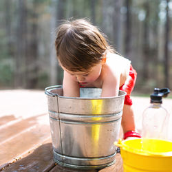 1歳児が水遊びをするときの服装や場所、準備したもの。時間などママが気をつけたこと