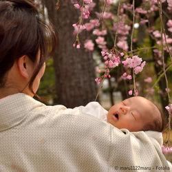 お宮参りの和装。ママたちの髪型や簡単にできるセルフアレンジ、授乳の工夫