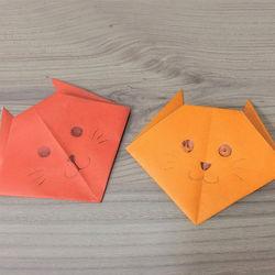 折り紙「猫」の折り方