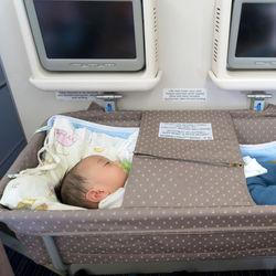 生後2ヶ月の赤ちゃんと飛行機に乗るとき。耳抜き方法や準備のこと