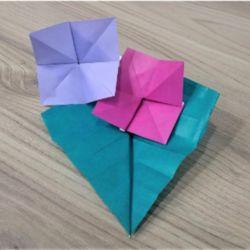 折り紙の「あじさい」折り方