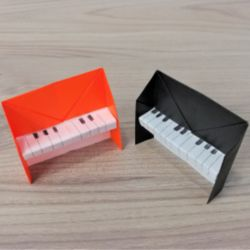 折り紙「ピアノ」の簡単な折り方