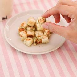 フライパンで簡単!青のりチーズトースト