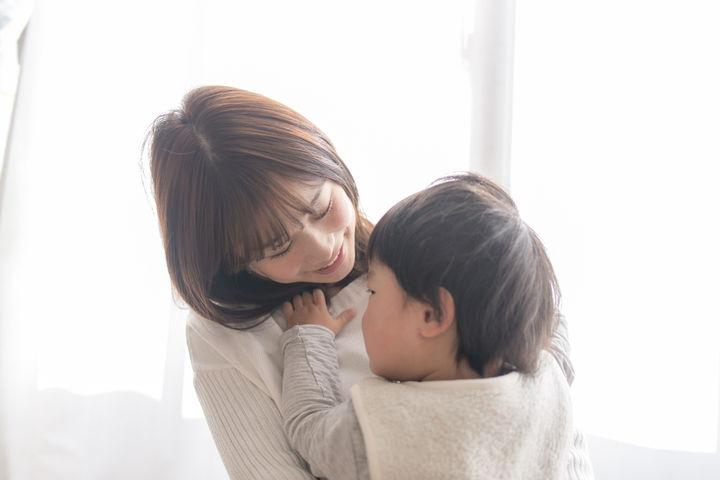 笑顔のママ