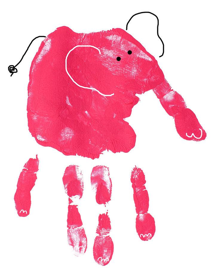 手形アートの象