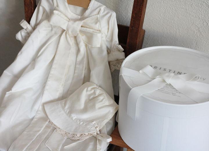 PRISTINE セレモニードレスとボンネットセット 50,600円(税込)サイズ50~70cm