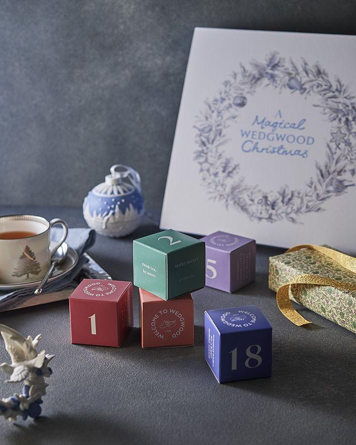 ウェッジウッド アドベントティーカレンダー セット内容 紅茶、お茶、25種類、ティーバッグ 2.5g/pcs 5,000円(税抜)