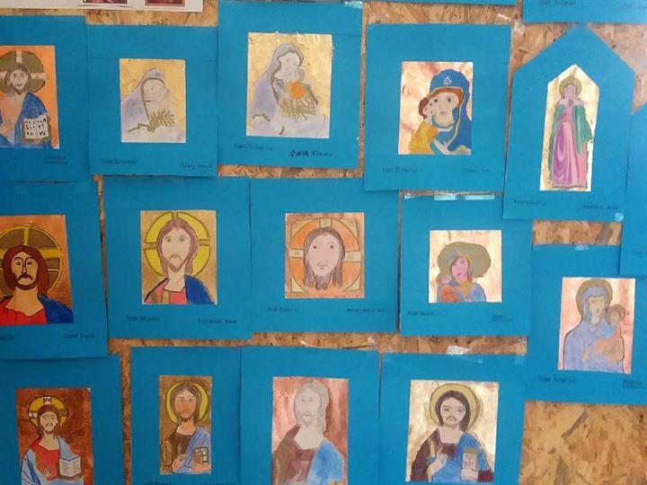 ミラノの中学校の美術の時間の作品。(提供:マリアーニ・綿貫愛香さん)