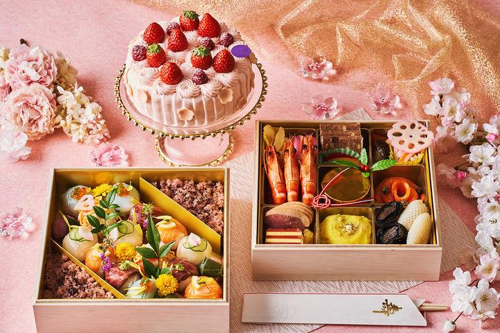 おうちdeひな祭りセット 3~4名様用 ひな祭りケーキ(15cm)付き 22,000円/ ケーキ無し 18,000円 (すべて税別)※イメージ