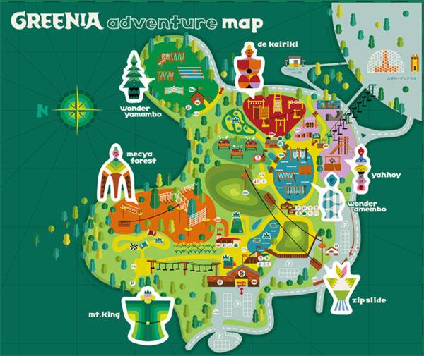 六甲山アスレチックパーク GREENIA新施設マップ ※制作中により、予告なく内容変更の可能性もあり