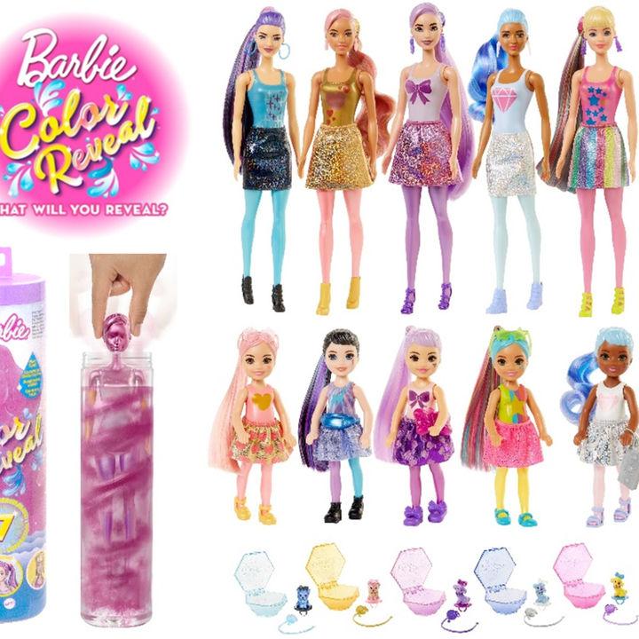 「バービー カラーリビール!みずで色マジック」シリーズから6つの新商品が発売