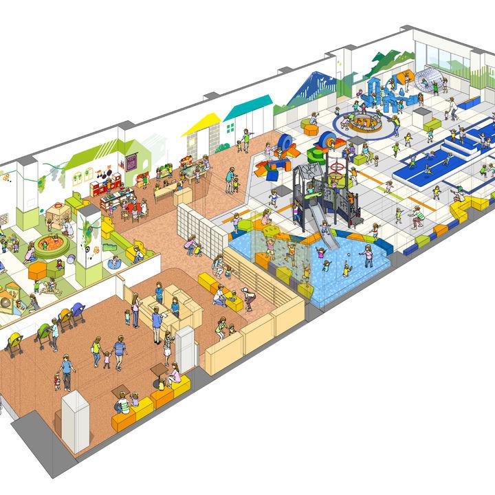 ボーネルンドと甲府市が協業開発した屋内運動遊び場がオープン