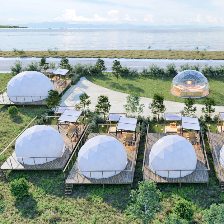 琵琶湖を間近にプライベートアクティビティを楽しめるグランピング施設がオープン