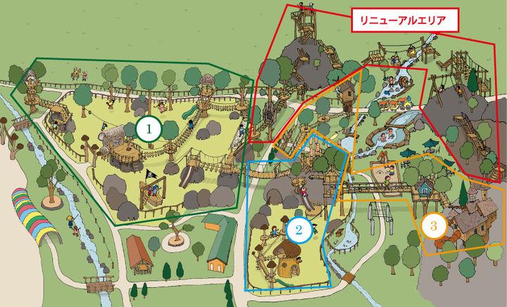 わくわく大冒険の森エリアマップ