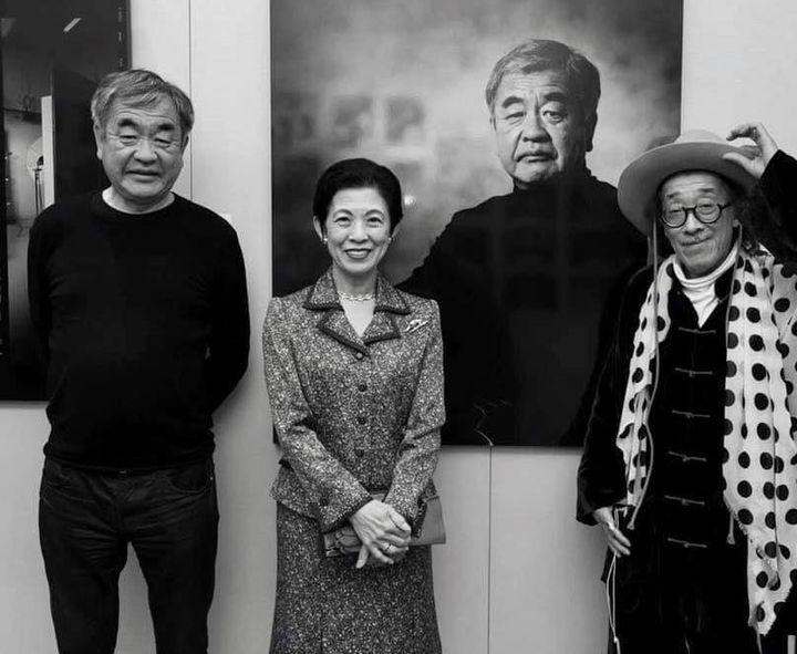 左/建築家・隈研吾氏、中央/高円宮妃久子殿下、右/ベンジャミン・リー氏
