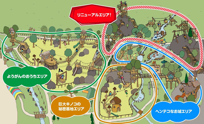 「わくわく大冒険の森」エリアマップ