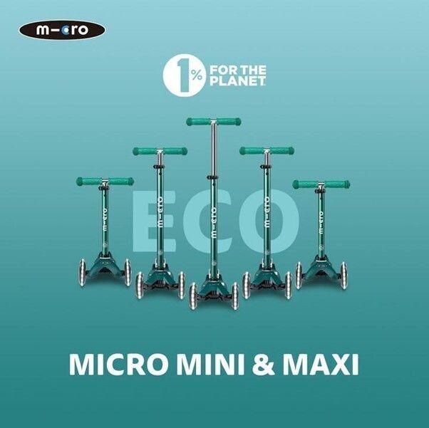 マイクロエコ(Micro ECO Kids scooters)ライン 全2種/ミニ エコ マイクロ デラックス LED 15,500円(税込)※対象:2歳から20kgまで、マキシ エコ マイクロ デラックス LED 21,900円(税込)※対象:5歳から50kgまで
