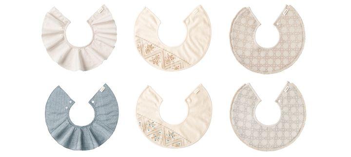 スタイ「organic(オーガニック)」シリーズ 全6色(上段左から1 etoile pink/ 2 mosaic coral/ 3 fringe copper、下段左から4 etoile blue/ 5 mosaic turquoise/ 6 fringe sage)各3,850円(税込)