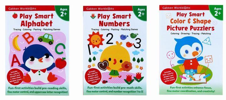 Play Smart Workbooks 2歳 ABC&すうじ&ぬりえパズルセット