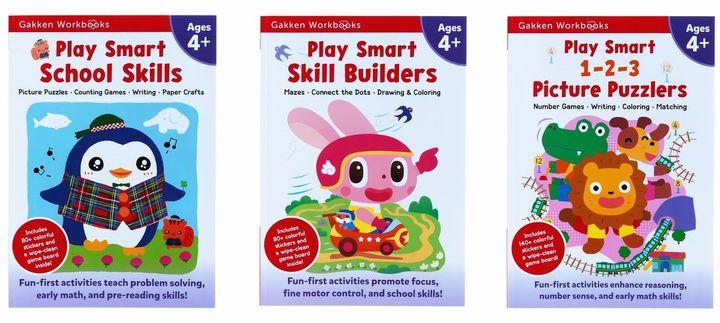 Play Smart Workbooks 4歳 入学準備&ちえのおけいこ&数字パズルセット