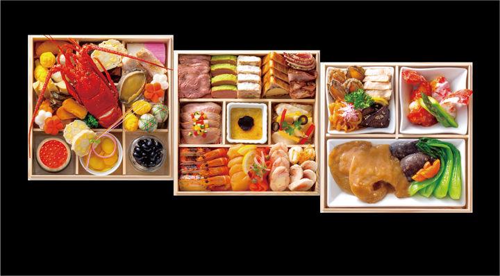 「寿」kotobuki 〈日本料理・西洋料理・中国料理〉三段〈限定10セット・4名用/全51品〉97,200円(税込)※郵送の場合は1セットにつき配送料1,500円が別途発生
