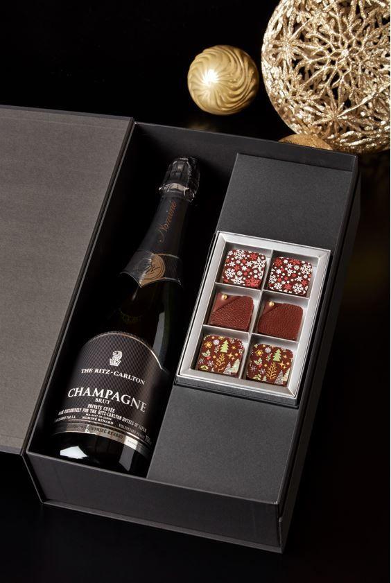 ホームメイドチョコレート「クリスマス」&シャンパーニュ ボックス 13,500円(税込)
