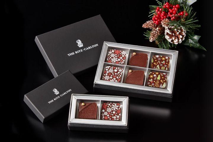 ホームメイドチョコレート「クリスマス」(2個入り)1,500円、(6個入り)3,200円(税込)