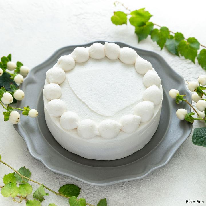 オーガニッククリスマスケーキ(ホワイト)5,379円(税込)大きさ:4号