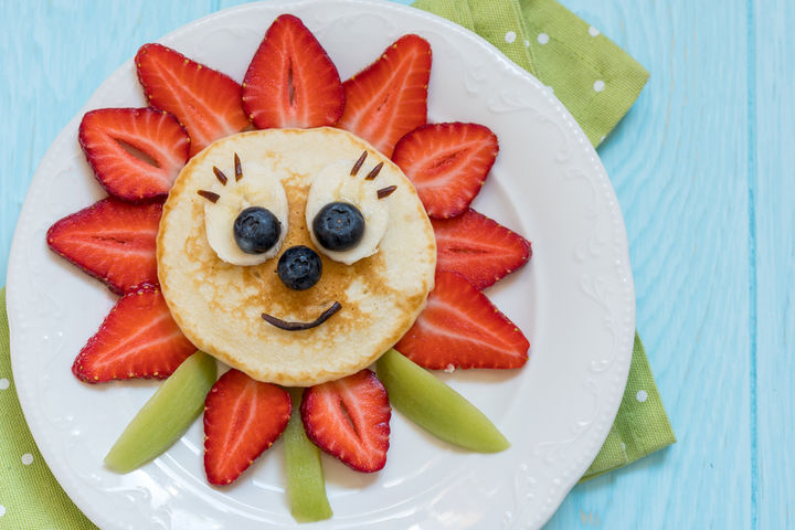 親子で楽しむデコパンケーキ(ホットケーキ)