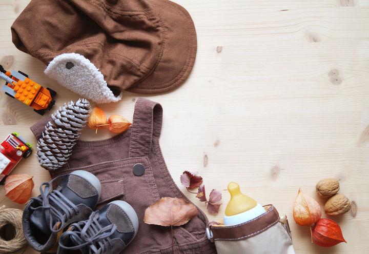 秋の赤ちゃん服