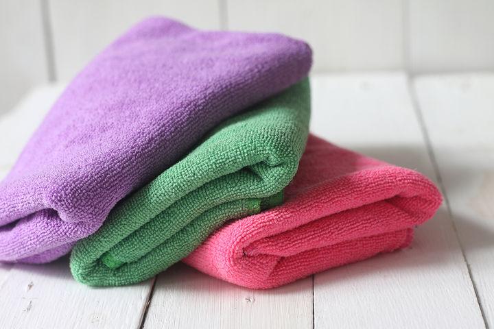 マイクロファイバーの布巾