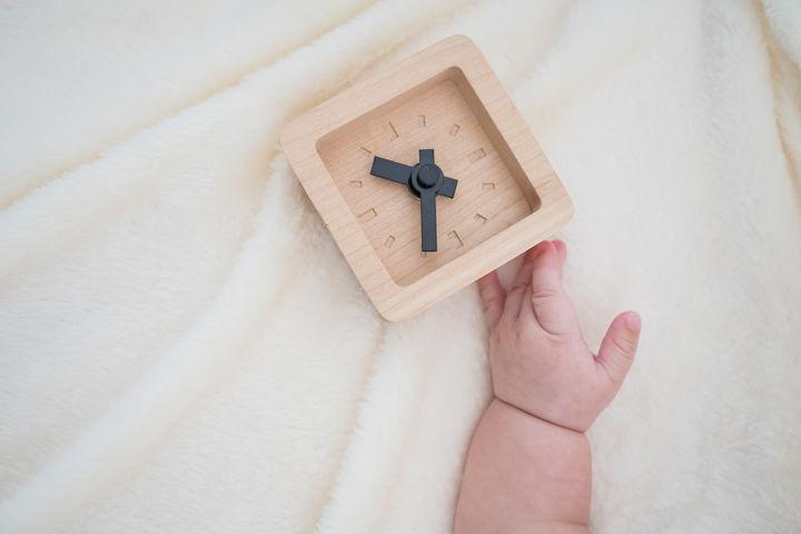 赤ちゃんと時計