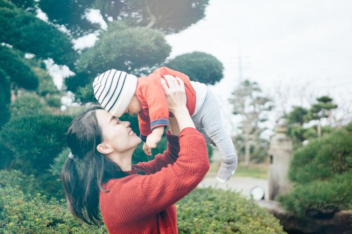 冬の赤ちゃんの洋服