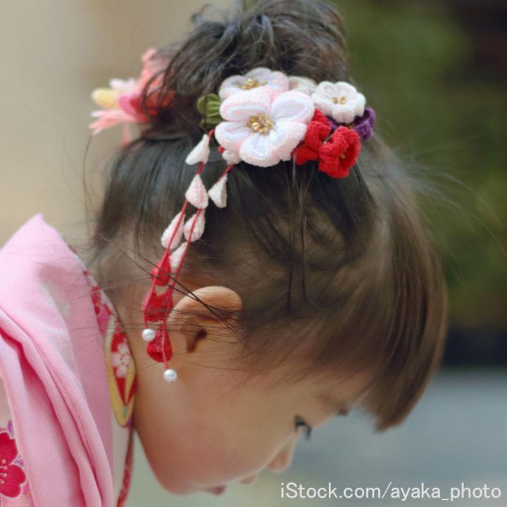 3歳の七五三の髪飾り。手作り方法やおかっぱなど髪型別のおしゃれな付け方と種類