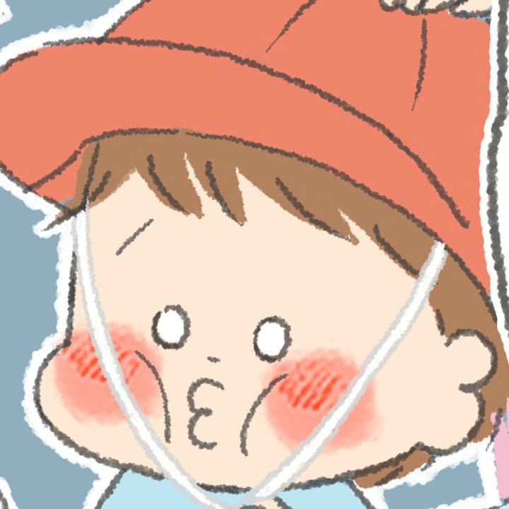 【うちの子おおきいんです】第72話 そまと赤白帽